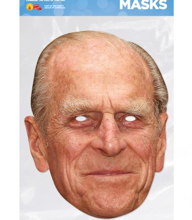 Prince Phillip Face Mask cardboard cutout face mask of the proud grandad. Great addition for a Royal Wedding prop.