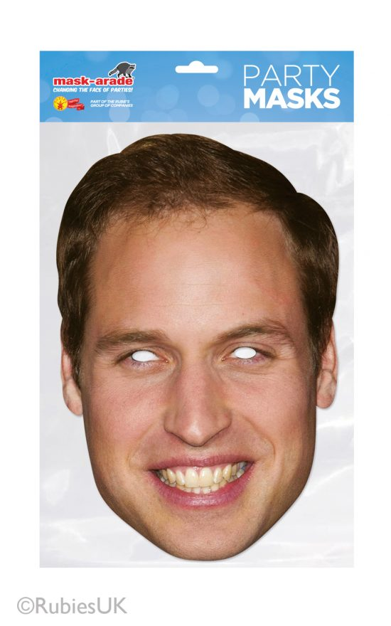 Prince William Face Mask Cardboard cutout mask of the best man. Great addition for Royal Wedding props