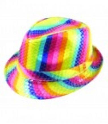 Rainbow Trilby Hat