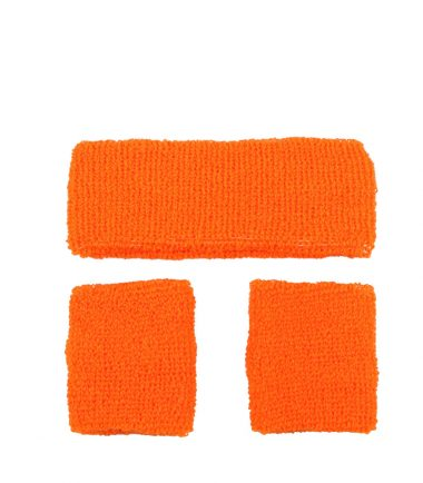 80's Orange Neon Sweatbands