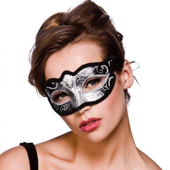 Black & Silver Eyemask