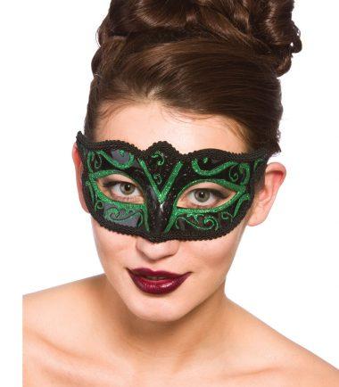 Black/green eyemask