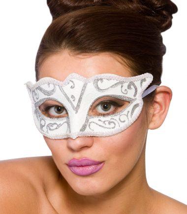 White & Silver Eyemask