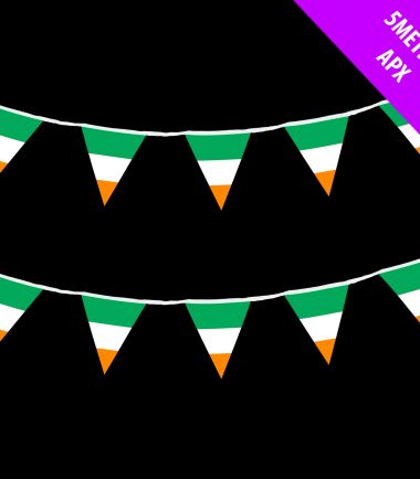5m Irish Tricolour Bunting