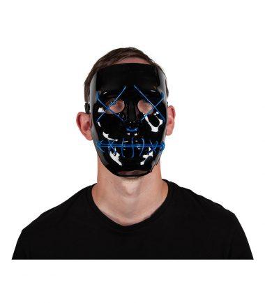 Blue LED Light Up Mask