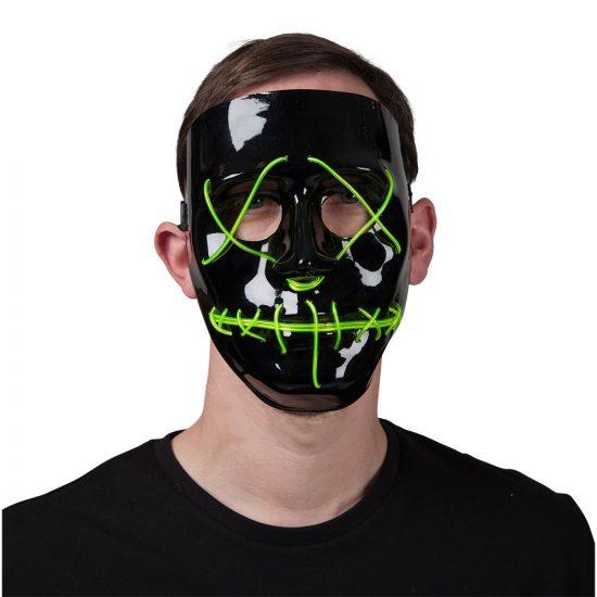 Green LED Light Up Mask