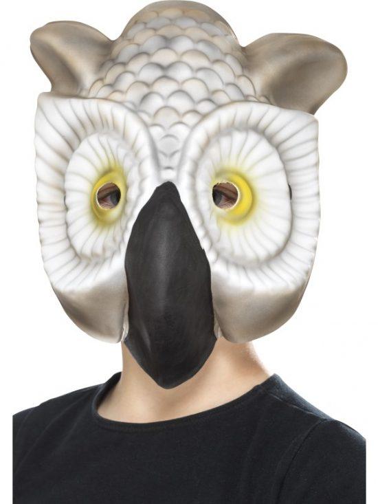 Owl Mask, Grey & White, EVA.