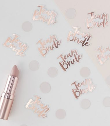 ROSE GOLD FOILED TEAM BRIDE CONFETTI- TEAM BRIDE