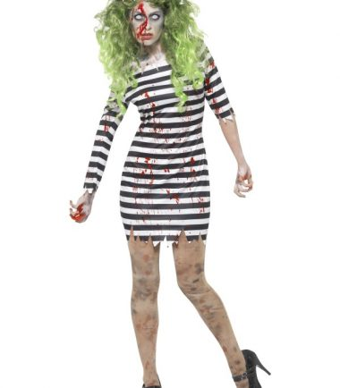 Ladies Zombie Jail Bird Costume