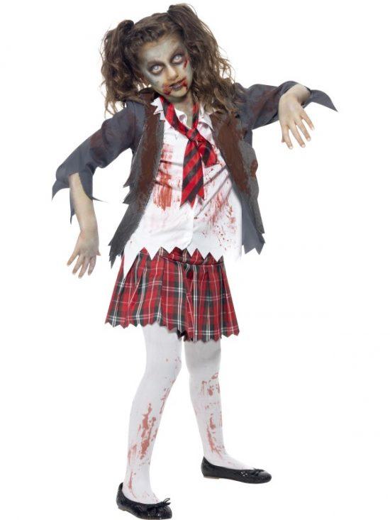 Children's Zombie School Girl Costume