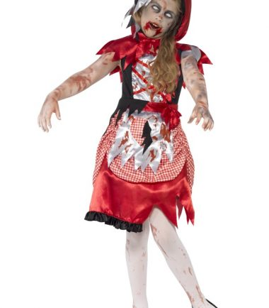 Girl's Zombie Miss Hood Costume