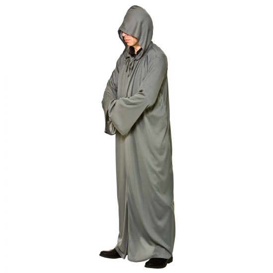 Grey Hooded Robe