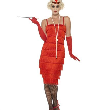 Long Flapper Costume In Red