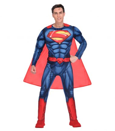 Superman Muscled Jumpsuit Costume