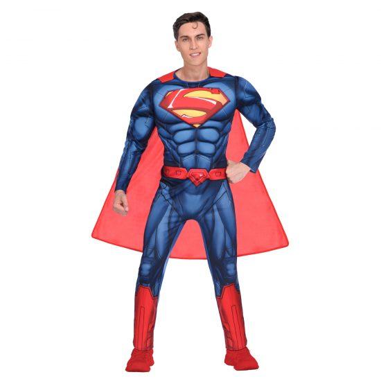 Superman Muscled Jumpsuit Costume