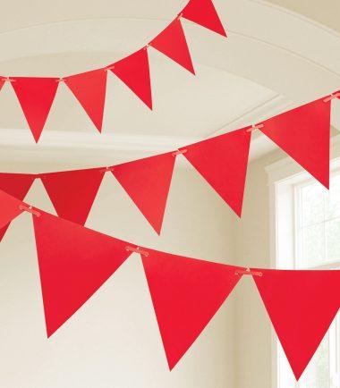 Red Plastic Pennnant Banner