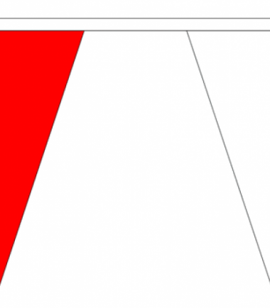 Red & White Triangle Bunting 20 metres
