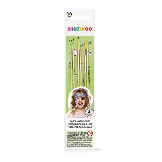 3 Piece Snazaroo Brush Set