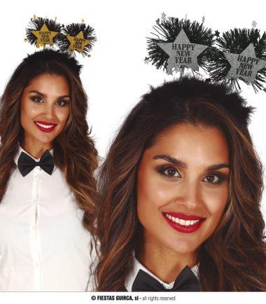 Happy New Year Silver Headbands