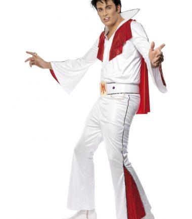 Elvis Costume In White & Red