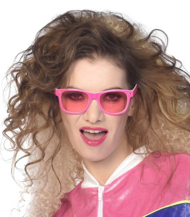 Pink 80's Retro Sunglasses